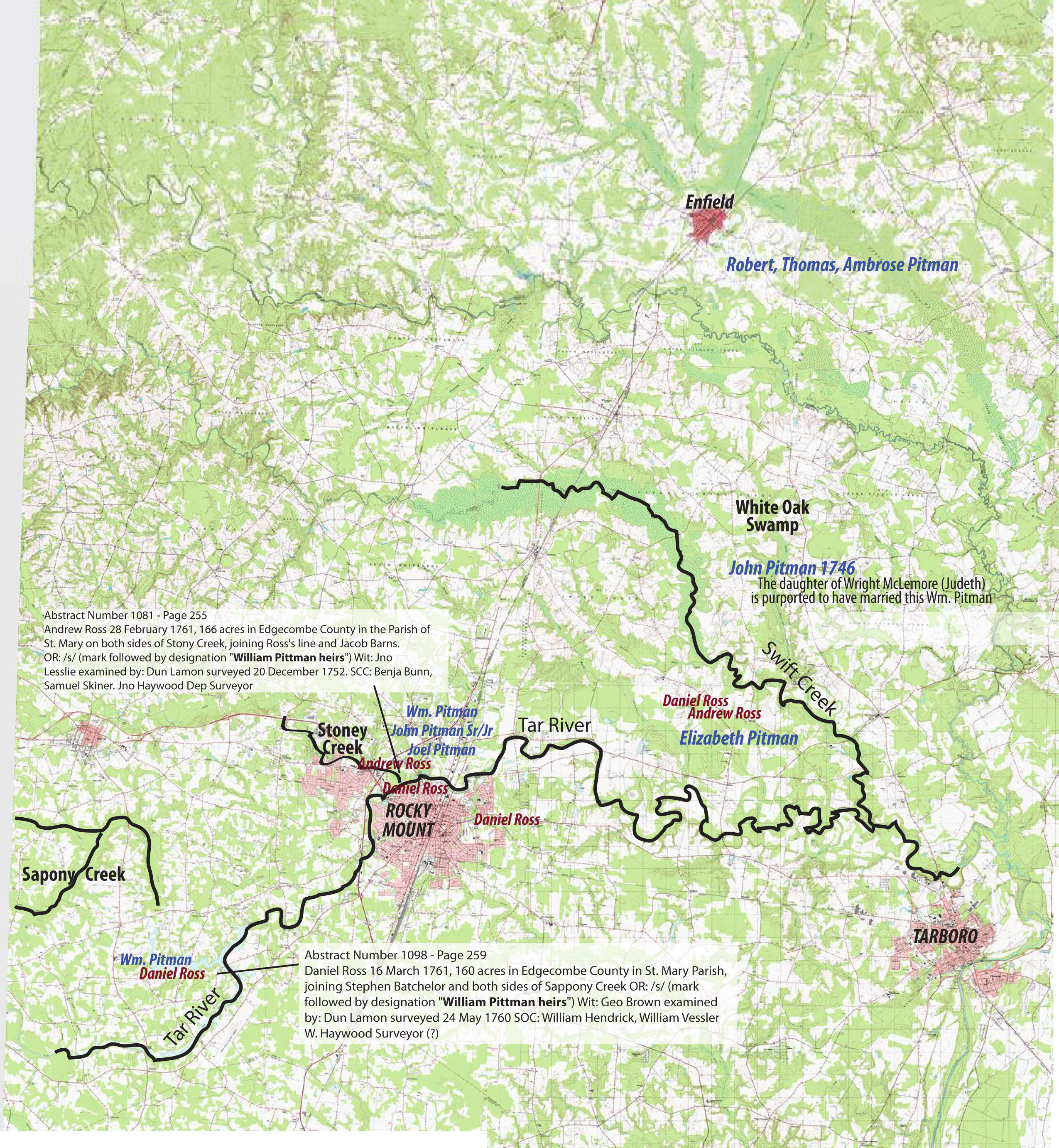 Pitman Ross Conundrum Map Andersons Of Colonial N Carolina - No carolina map