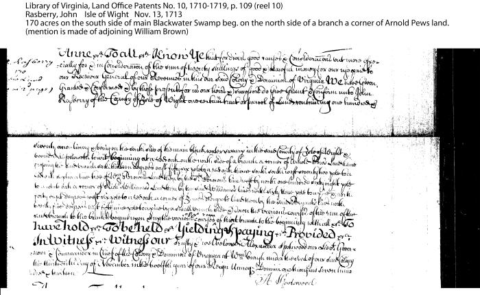 Rasberry patent 1713