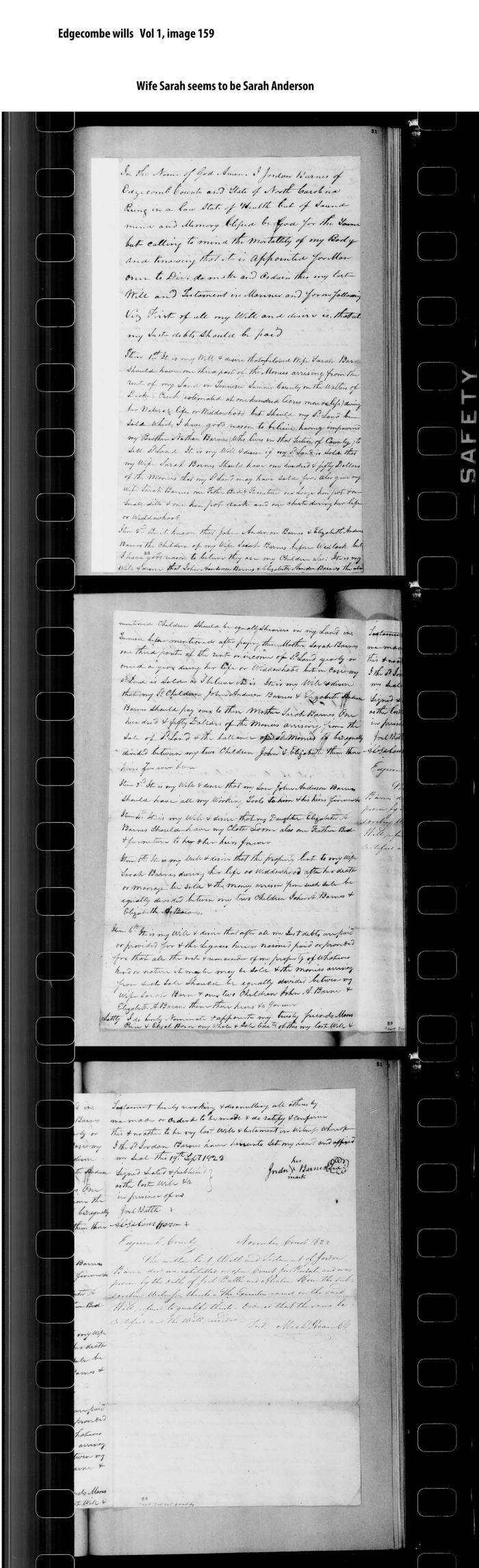 Sarah Anderson 1822