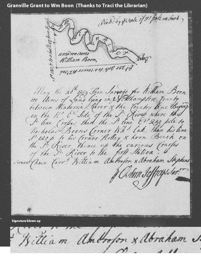 Wm Boon 1749-1